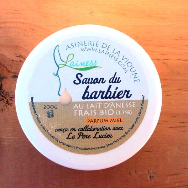 savon à raser au lait d'ânesse frais et bio - 200g
