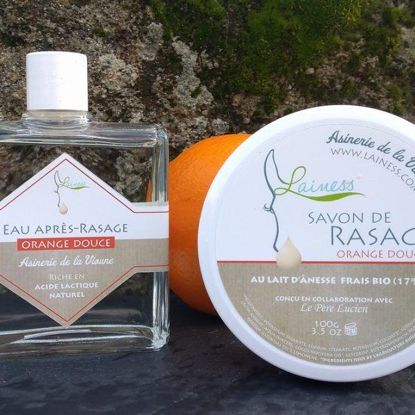 combo-savon-de-rasage-100g-apres-rasage-100ml-orange-douce-au-lait-danesse