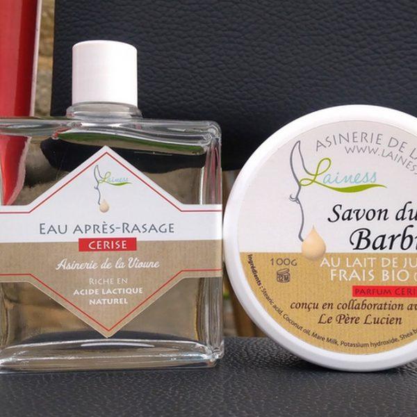 ensemble-savon-de-rasage-apres-rasage-cerise-au-lait-bio-100g