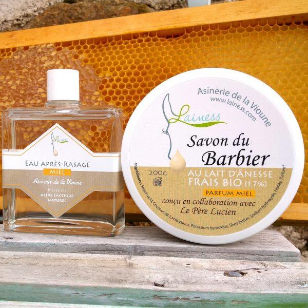 combo-savon-de-rasage-apres-rasage-miel-au-lait-anesse-200g