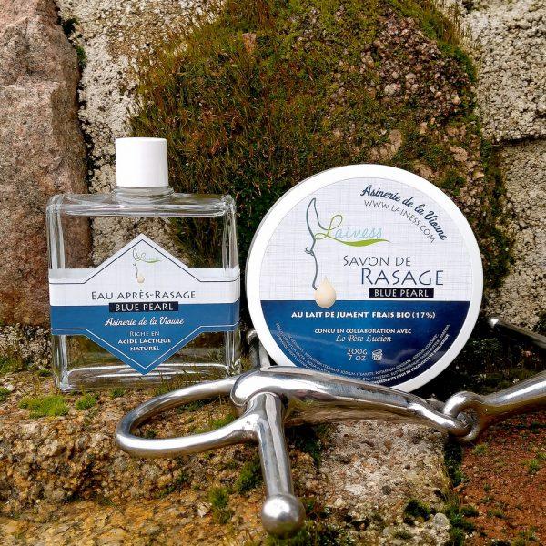 combo-savon-de-rasage-200g-apres-rasage-100ml-blue-pearl-au-lait-de-jument-bio